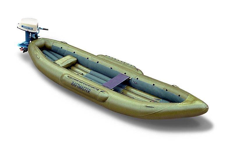 узкая надувная лодка с транцем